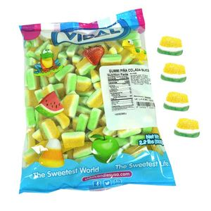 Gummi Pina Colada Slices 2.2lb Bulk Bag