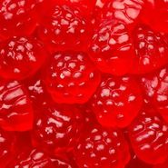 Gummi Raspberry Berry Red 5lb Bulk
