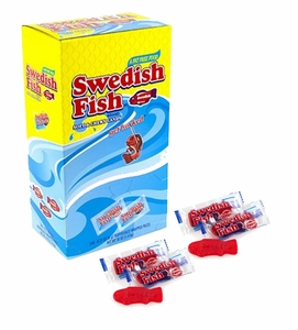 Gummi Red Swedish Fish Wrapped 240 Count