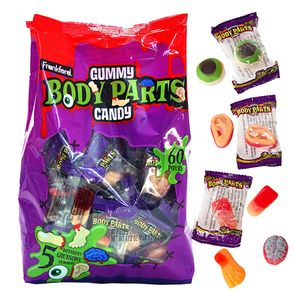 Gummy Body Parts Wrapped 60 Count