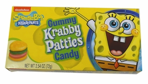 Gummy Krabby Patties Candy 2.54oz Box