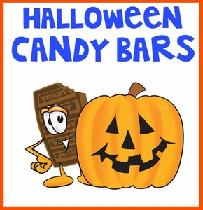 Halloween Candy Bars Selections