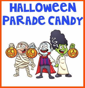 Halloween Parade Candy Selections