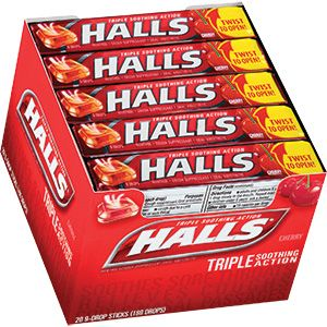 Halls Cough Drops Sticks 20ct - Cherry