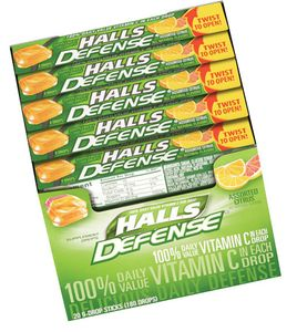 Halls Cough Drops Sticks 20ct - Citrus Vitamin C