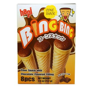 Hapi Bing Bing Cone Chocolate 8 Count