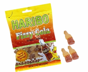 Haribo Gummi Fizzy Cola Bottles 5oz Bag