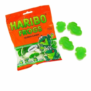 Haribo Gummi Green Frogs 5oz Bag