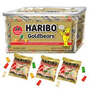 Haribo Gold Mini Packs Gummi Bears 54 Count