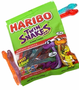 Haribo Twin Gummi Snakes 5oz Bag