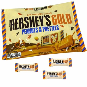 Hershey's Gold Snack Size Bars 8.9oz Bag