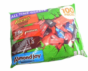 Hershey's Greats Assortment 100 Count Snack Size