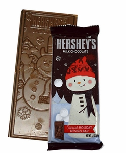Hershey's Holiday Design Bar Snowman  3.5oz (One Bar)