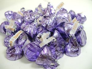 Hershey's Kisses With Caramel 24oz  Purple