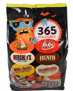 Hershey's Mini Bars Chocolates Assorted 365 Count Halloween