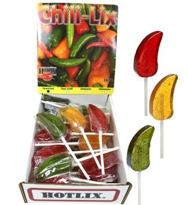 Hotlix Chili-Lix Assorted Lollipops
