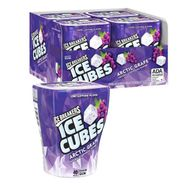 Ice Breaker SF Gum Cubes Arctic Grape 4 Pack
