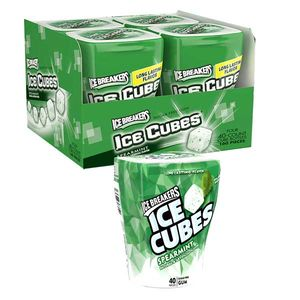 Ice Breaker SF Gum Cubes Spearmint 4 Pack