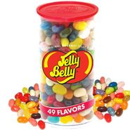 Jelly Belly 49 Flavor Clear Plastic Can Jelly Beans 12oz