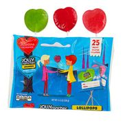 Jolly Rancher Heart Shaped Valentine's Lollipops 25ct