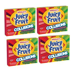 Juicy Fruit Collisions Straw/Watermelon 10 Count