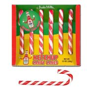 Ketchup Candy Canes 6 Count Archie McPhee