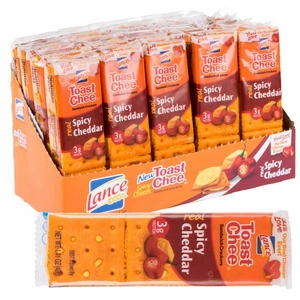 Lance Spicy Cheddar Crackers 20 Count