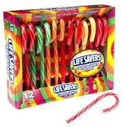 Life Saver 5 Flavor Candy Canes 12 Count
