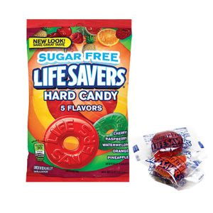Life Saver Singles 5 Flavor Sugar Free 2.75oz Bag
