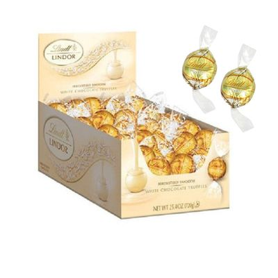 Lindt LINDOR Kosher 60 Count of 25.4 Ounce White Chocolate Truffles