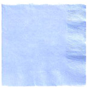 Pastel Blue Lunch Napkins 50 Count