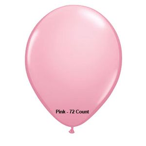 "Lite Pink Latex Balloons 11"" 72 Count"