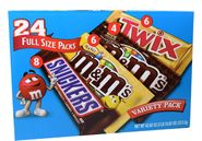 M&M Mars Variety Pack 24 Count Candy Bars