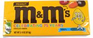 M&M Peanut Candy 3.1oz Theater Size Box