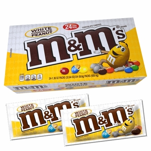 "M&M's White Chocolate ""Peanut"" 24 Count"