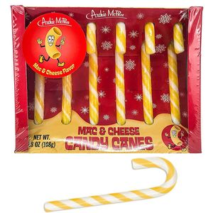 Mac & Cheese Candy Canes 6 Count Archie McPhee