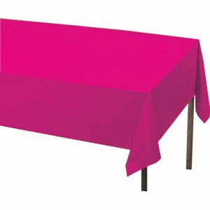Magenta Plastic Tablecloth