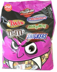 Mars Snack Size Favorites Mix 250 Count Vampire Bag