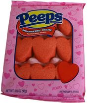 Marshmallow Peep Hearts Strawberry Cream