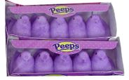 Marshmallow Peeps Chicks 10ct - Purple
