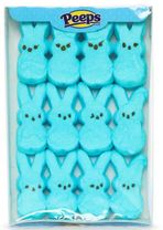 Marshmallow Peeps Bunnies 12ct - Blue