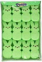 Marshmallow Peeps Bunnies 12ct - Green