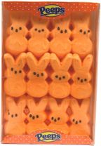 Marshmallow Peeps Bunnies 12ct - Orange