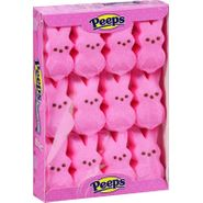 Marshmallow Peeps Bunnies 12ct - Pink