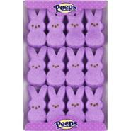 Marshmallow Peeps Bunnies 12ct - Purple