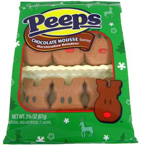 Marshmallow Peeps Chocolate Mousse Reindeer