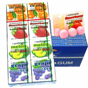 Marukawa Bubble Gum Assorted 24 Count