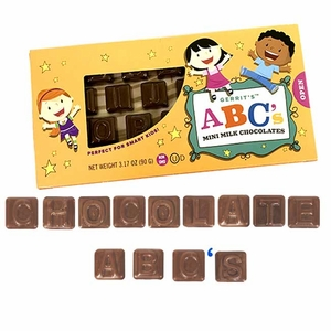 Milk Chocolate Mini ABC's