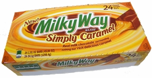Milky Way Simply All Caramel Candy Bars 24ct