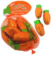 Mini Chocolate Carrots In Mesh Bag